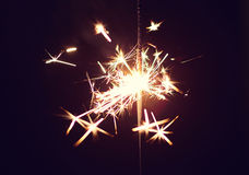 Christmas and newyear party sparkler Royalty Free Stock Image