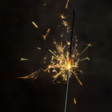 Christmas and newyear party sparkler Stock Photography