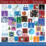 Christmas and Ney Years Eve. Background collection for Christmas and New Years Eve Stock Photo