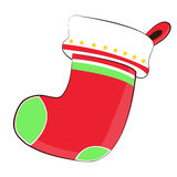 Christmas nicknack sock and tree on Chistmas Day Royalty Free Stock Images