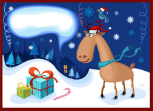 Christmas night. Vector illustration of a christmas night Royalty Free Stock Photos