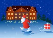 Christmas night. Stock Photo
