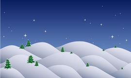 Christmas night stock image