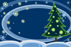 Christmas night vector illustration