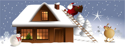 Christmas night Royalty Free Stock Image