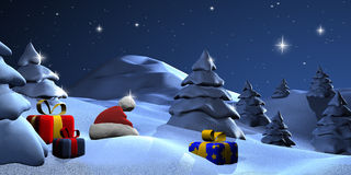 Christmas night Stock Photography