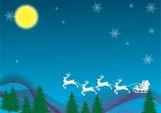 This christmas night vector illustration