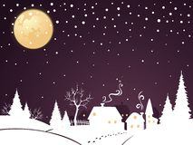 Christmas night. Peaceful and magical xmas night Royalty Free Stock Images