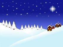 Christmas night royalty free illustration