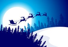 Christmas Night Background Royalty Free Stock Photography