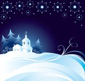 Christmas night background stock illustration