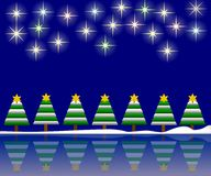 Christmas Night Background Stock Photo