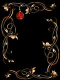 Christmas night border black Royalty Free Stock Photo