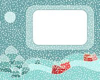 Christmas night card Stock Images