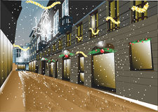 Christmas night in the city Royalty Free Stock Image