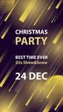 Christmas night club party vector flyer or poster. Stock Images