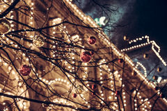 Christmas night in Europe City Stock Photo