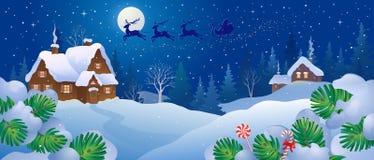 Christmas night fairytale royalty free illustration