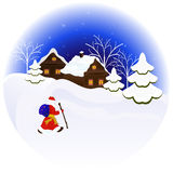 Christmas night illustration Royalty Free Stock Photos