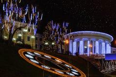 Christmas night in Kiev. Kiev, the view on Christmas Maidan Stock Photography