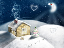 Christmas night landscape Royalty Free Stock Photography