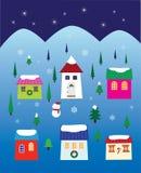 Christmas Night Neighbourhood Stock Image