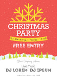Christmas night party poster or flyer  illustration. Merry christmas design template  background Stock Photo
