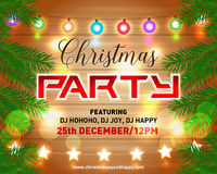 Christmas night party poster, invitation, card, flyer vector illustration. Merry christmas design template vector background. Royalty Free Stock Image