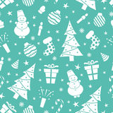 Christmas night pattern 2 Stock Images