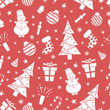 Christmas night pattern Stock Images