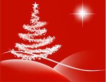 christmas night red Στοκ εικόνα με δικαίωμα ελεύθερης χρήσης