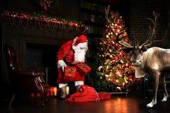 Christmas night, Santa Claus Stock Photos