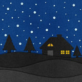 Christmas night with santa recycled papercraft. Christmas night with santa recycled paper craft Royalty Free Stock Images