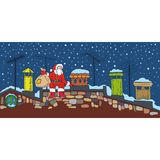 Christmas Night and Santa Stock Images