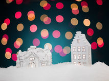 Christmas night scene Royalty Free Stock Image
