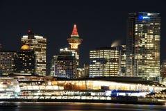 Christmas night scene of downtown Vancouver Stock Photos