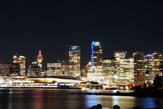 Christmas night scene of downtown Vancouver Royalty Free Stock Photography