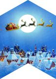 Christmas night-shaped roof Stock Images