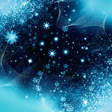Christmas night snowflakes Royalty Free Stock Photos