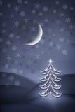 christmas night tree Στοκ εικόνα με δικαίωμα ελεύθερης χρήσης