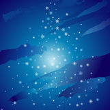 Christmas night,vector. Christmas night with many different snowflakes,vector illustration Stock Image