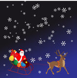 Christmas night vector background Stock Photography