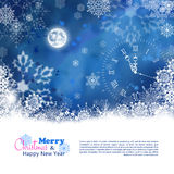 Christmas Night Vector Background Stock Image