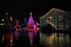 Christmas Night on the Water Stock Photos