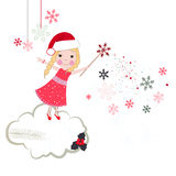 Christmas noel fairytale vector greeting Stock Images