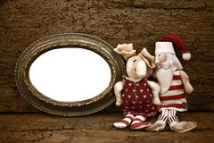 Christmas Noel old frame card Royalty Free Stock Photo