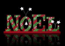 Christmas Noel Sign. A Christmas noel sign over a black background stock image