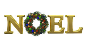 Christmas NOEL Wreath 1 Royalty Free Stock Image