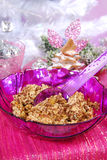 Christmas noodles with poppy seeds and raisins Stock Photography