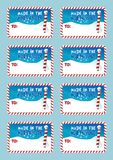 Christmas north pole gift tags Royalty Free Stock Photography